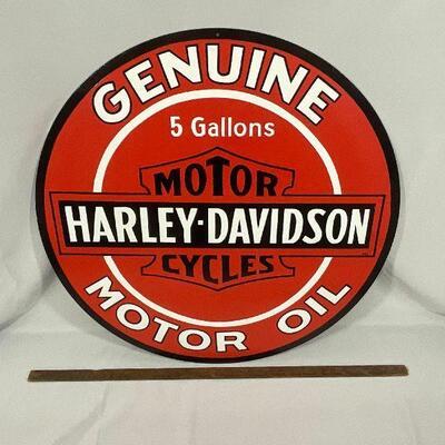 Hand Painted Harley Davidson Sign