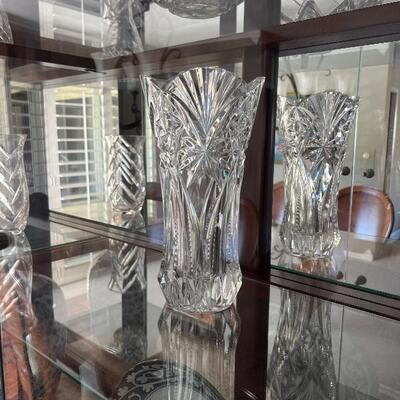 Heavy lead crystal vases