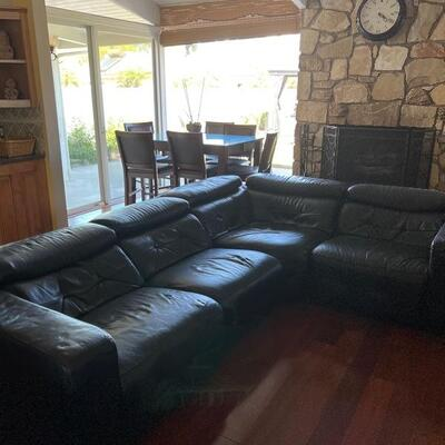 """""""Partial"""" Leather sectional couch"""