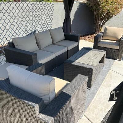 Five piece patio furniture set.