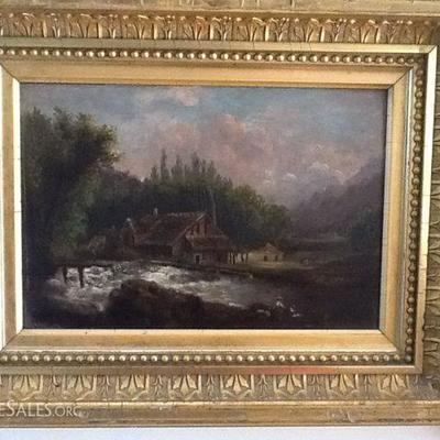 Listed artist Helmer Bryn, California, 1885-1935 oil painting on board