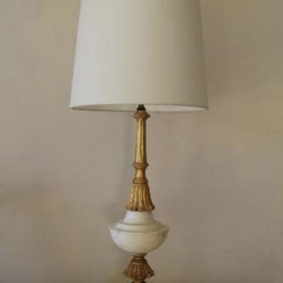 Italian Carrera marble lamps