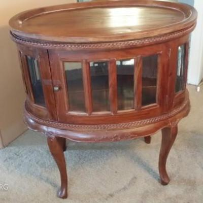 Antique Side Table with 2 doors that open