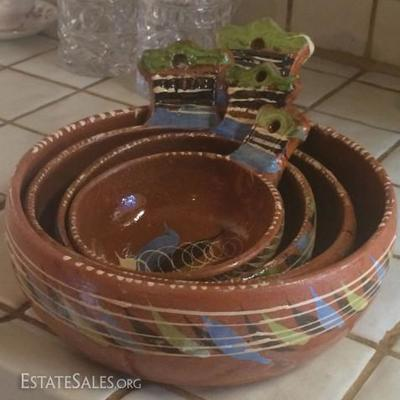 Vintage Mexican pottery redware