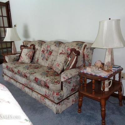 Sofa, love seat and chair