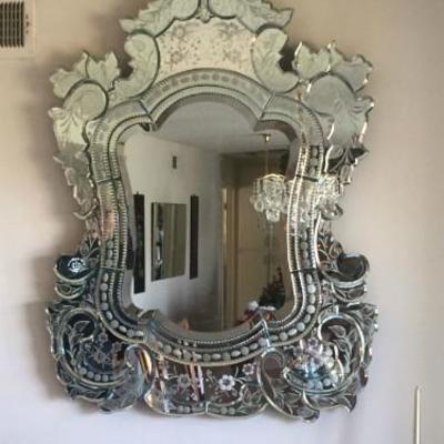 Large Venetian mirror, 48