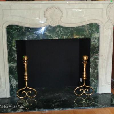 marble fire place mantel