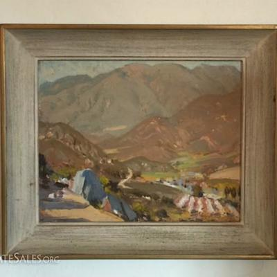 Highly acclaimed San Diego artist Alfred Mitchell; frame size 12-3/4