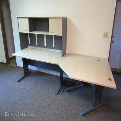 3-pc computer table, desk, hutch