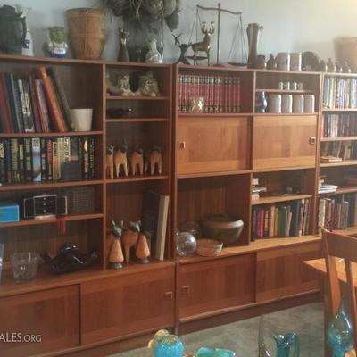 Danish Modern mid century teak book shelves