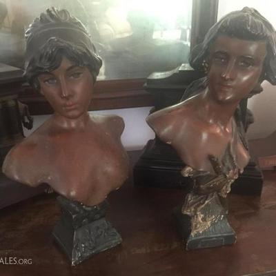 Chalkware Victorian busts